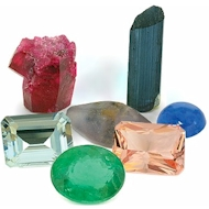 Natural crystals, facet gemstones, loose gemstones, gemstone parlces, cabbing rough and great selection of Alexandtite, Tanzanite, Tourmaline and Sapphire loose gem stones