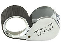 Gemological Tools Loupe 10x Rubber-Grip Chrome 5145