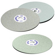 Diamond Discs available in a wide range of mesh sizes for grinding or pre polishing, the tough diamonds assure longer life as well as faster and sharper cutting without chipping or cracking.